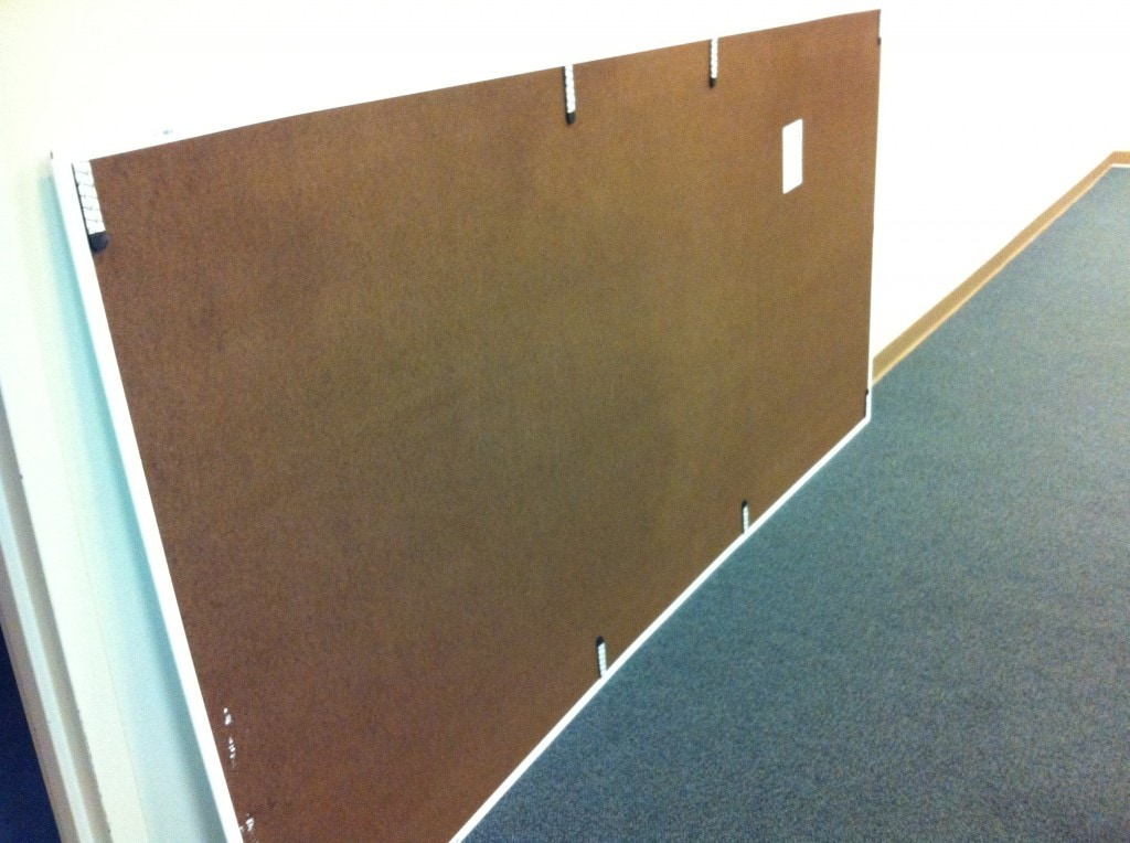 Command Adhesive Strips on Whiteboard